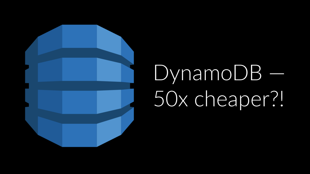 Saving money on DynamoDB with Global Secondary Indexes